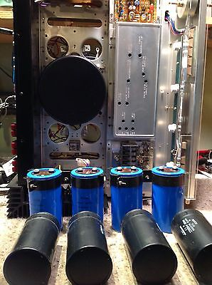 PIONEER SX-1250-----FILTER CAPACITORS-----NEW SET OF FOUR-----PERFECT FIT