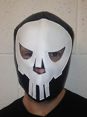 Lucha Libre Mexican Wrestling Mask fancy dress Punisher Cross Bones Halloween (Punisher Halloween Mask)