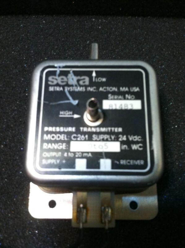 SETRA 24VDC 0 to 5 WC PRESSURE TRANSMITTER C261-1