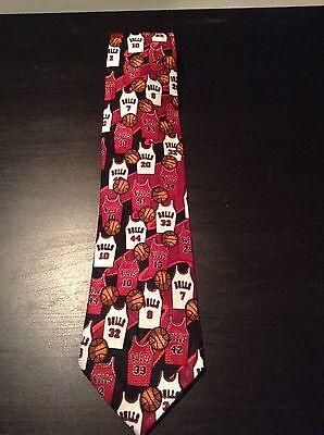 Bulls Silk - Vintage 1990s chicago Bulls 100 % Silk Tie - Win, Lose, or Tie - Limited Edition