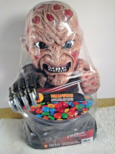 Collectable Rubies Freddy Nightmare On Elm Street Candy Bowl Holder **SCARY **