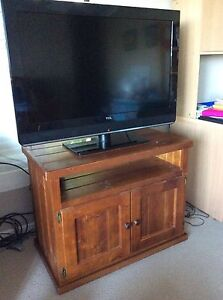 Flat Screen Television and Wooden Cabinet Taringa Brisbane South West Preview
