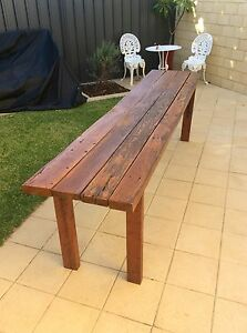 Solid jarrah outdoor setting 2.7m long Innaloo Stirling Area Preview