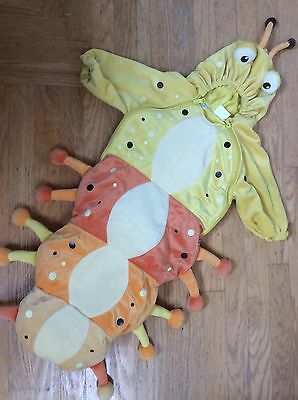 BABYSTYLE Baby CATERPILLAR Halloween Costume Velour Bunting TOMATO WORM 0 3 6 mo