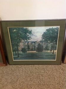 Framed wifrid laurier / waterloo college framed print