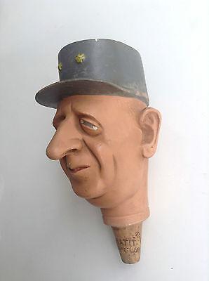 RARE ancien bouchon Tête Général De Gaulle