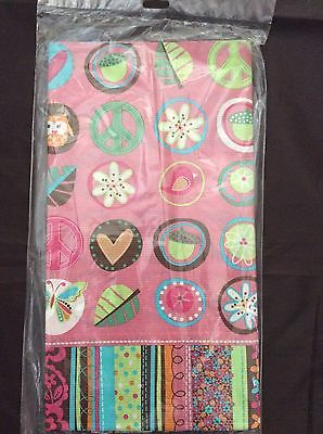 Hippie Chick Party Supplies Paper Table cover 54