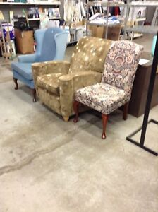 Gently used furniture at the HFH restore