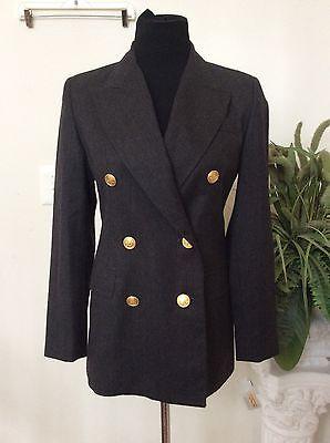 NWT Talbots Women Career Black 100% Wool Multi-Occassion Blazer Suit Sz 2P $180