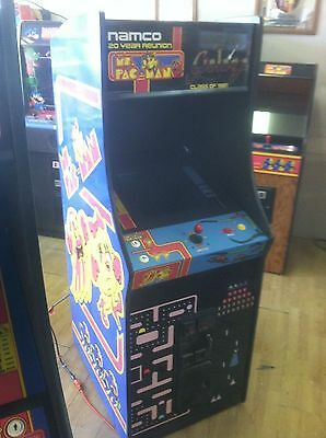 Completey Restored Ms. PacMan/Galaga 20 Year Reunion Arcade , Upgraded 60 GAMES