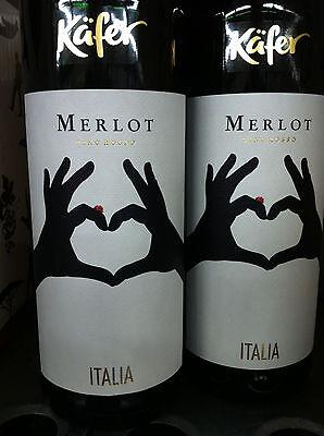 6 Flaschen Käfer Merlot Italien 0,75l