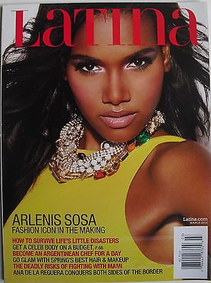 ARLENIS SOSA March 2010 LATINA Magazine ANA DE LA REGUERA