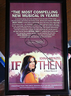 Idina Menzel Ad Flyer Signed Autographed If Then Frozen Wicked  And Is Framed