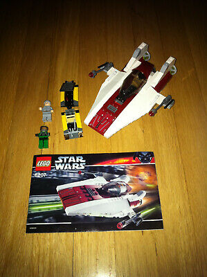 Lego Star Wars A-Wing Fighter # 6207  Complete w/Manual & Minifigs