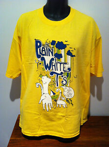 PLAIN-WHITE-T-039-S-Yellow-Dinosaur-T-SHIRT-NEW-OFFICIAL-MERCHANDISE-SIZE-XLarge