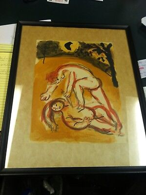 Marc Chagall Hand Signed  Artist Pencil LITHOGRAPH