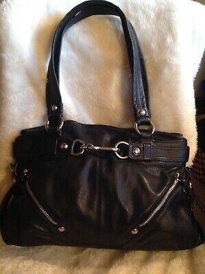 B.Makowsky shoulder bag/purse black  leather  size Large