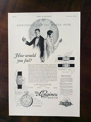 1926 vintage original ad A. Wittnauer Co. Selling Longines Watches