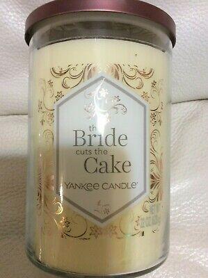 Yankee Candle The Bride Cuts the Cake Large Tumbler 22oz 2 Wick Ivory Wedding Ivory Wedding Cake Candle