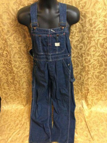 Vintage USA BIG MAC Denim Overall Pants Union Made 30/27.5 Square Bak jeans 60