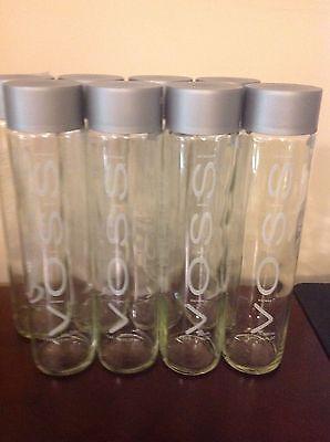 Voss Water Bottles,Tall 800ml,6 per set {Empty,Glass}