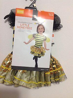 Baby Toddler Honey Bee Halloween Dress Up Costume 12-24 Months NEW! - Toddler Bee