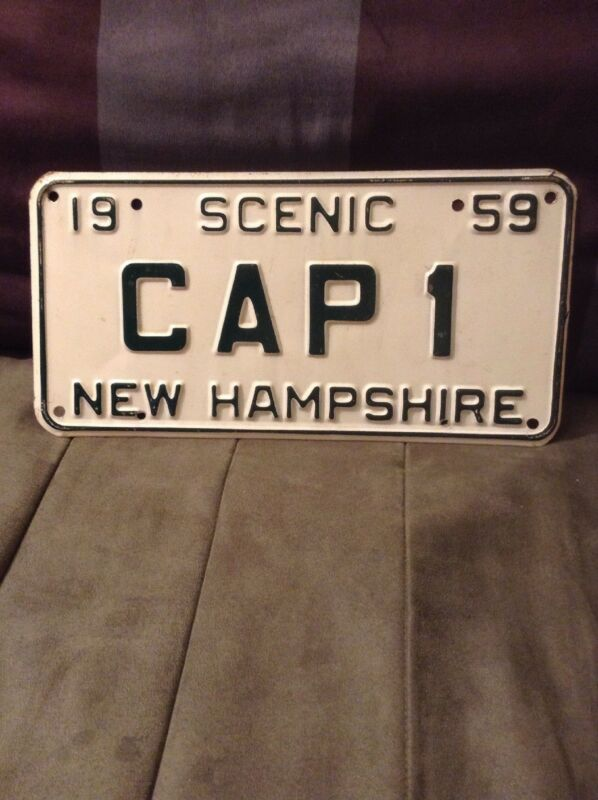 1959 CAP 1 New Hampshire License Plate