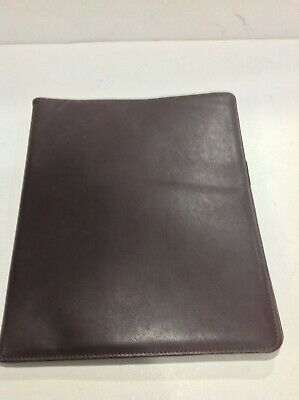 Large Monarch 8 12 X 11 Pad Size Open Sided Notepad Holder Brown Leather