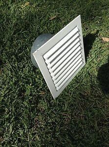 White aluminium weatherproof louvre vent North Narrabeen Pittwater Area Preview