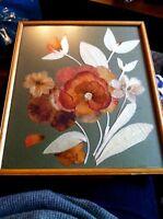 Vintage Handmade Pressed Flower Petal Picture Wooden Frame Kitsch Shabby Chic -  - ebay.co.uk