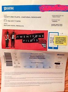 21 Pilots concert ticket Geelong Geelong City Preview