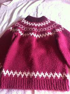 Girl's hand knit Fair Isle sweater approx sz 12 Kingston Kingston Area image 1