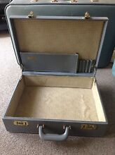 Beautiful Blue Grey Briefcase Lockable Vintage Stylish DIY Project Beenleigh Logan Area Preview