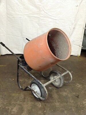 Kushlan 350dd Cement Mixer 3.5 Cu Ft Concrete Electric Portable Machine Used