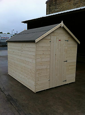 WOODEN GARDEN SHEDS HEAVY 14MM TONGUE AND GROOVE APEX STORE / HUT TIMBER SHED