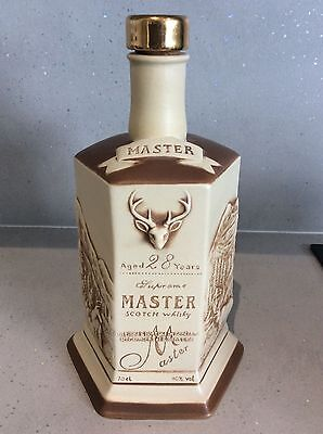 Supreme Masters 28 Year Whisky Decanter Bottle - Stag Hunting Scene