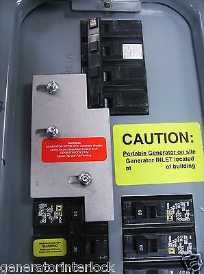Sd-h200a Square D Generator Interlock Kit 150 200 Amp Homeline Panel Listed