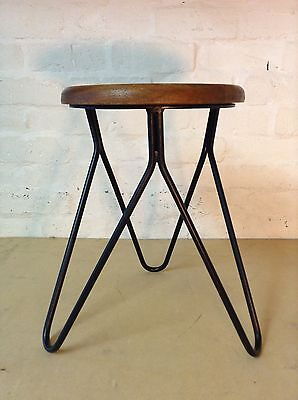 Industrial bar stool wooden top shabby vintage chic kitchen side table seat 125