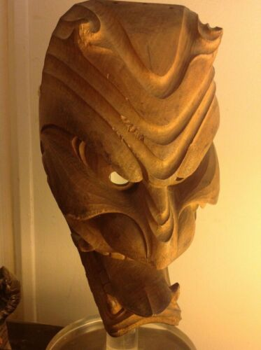 Antique Japanese Menburyu Demon Mask