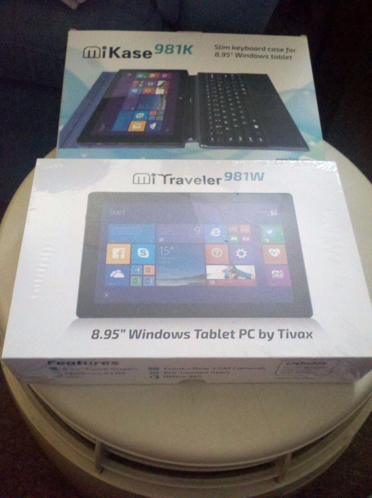 "Brand New 8.95 Windows 8.1 Tablet PC + 9"" Magnetic Folding Tablet Case--Black"
