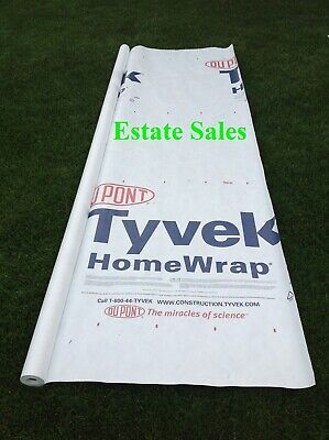 6 X 8 Ft Tyvek House Wrap Paper Underlayment Siding Wall Insulation Mold Protect