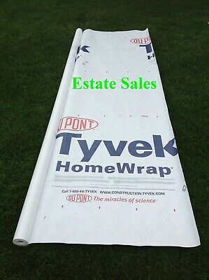 5 X 9 Ft Tyvek House Wrap Paper Underlayment Siding Wall Insulation Mold Protect