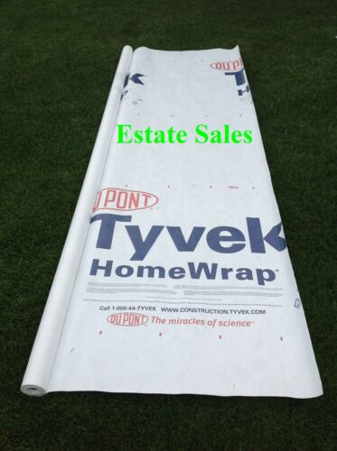 6 X 9 ft TYVEK House Wrap Paper Underlayment Siding Wall Insulation Mold Protect