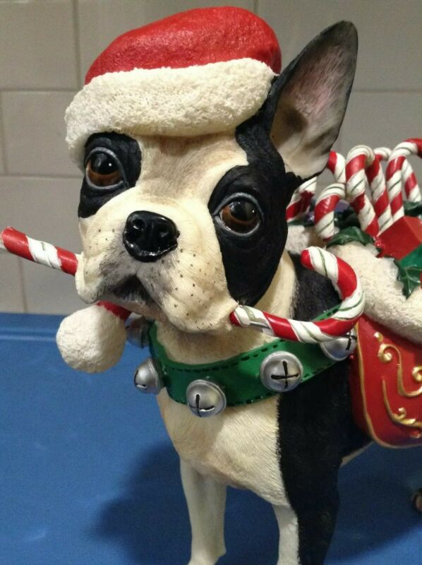 Danbury Mint  -  Christmas Boston Terrier