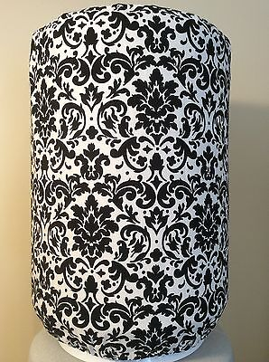 BLACK AND WHITE DAMASK 5 GALLON WATER COOLER BOTTLE COVER KITCHEN DECORATION](Black And White Damask)