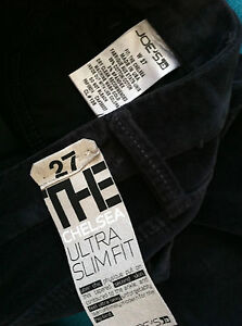 Joe's Jeans Womens Chelsea Ultra slim fit NWT 27 28 Black Sapphire Charcoal velv