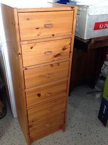 Timber pine 6 drawer unit Turramurra Ku-ring-gai Area Preview