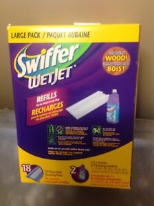 Swiffer Wet Jet Power Mop Refill Large Pack 2 X 1 L , 18 Pads