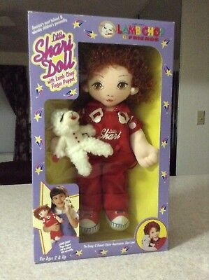Little Shari Lewis Doll with Lamb Chop Finger Puppet 1994 NIB Vintage Little Lamb Finger Puppet