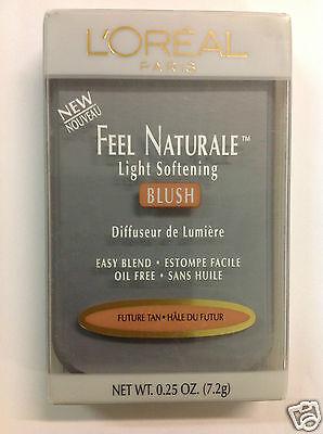 L'OREAL FEEL NATURALE LIGHT SOFTENING POWDER BLUSH ( FUTURE TAN ) NEW.